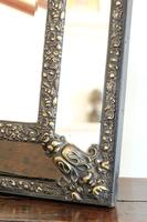 Dutch Repousse Brass Cushion Framed Mirror with Arched Crest (6 of 12)