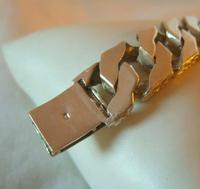"Vintage Sterling Silver Gentlemans ID Bracelet 66.7 Grams 8 3/4"" Length (9 of 12)"