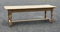 Large French Bleached Oak Farmhouse Table with Extensions (2 of 26)