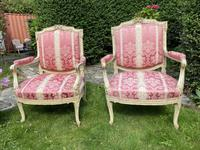 Pair of Large Painted Armchairs (3 of 9)