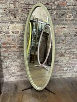 Olive Coloured 1960's Oval Mirror (3 of 5)