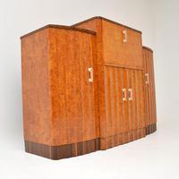 Art Deco Burr Walnut Cocktail Cabinet / Sideboard by Epstein (5 of 12)