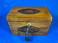 Late 18th Century Fruitwood and Applewood Twin Tea Caddy (14 of 21)