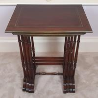 Stunning 19th Century Mahogany Nest of Four Tables (4 of 7)