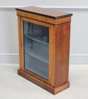 19th Century Walnut & Banded Display Bookcase (4 of 7)