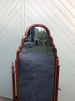 Antique Mahogany Cheval Dressing Mirror (8 of 9)