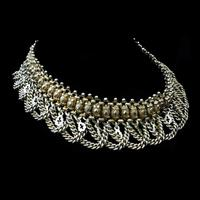 Vintage Aesthetic Gold on Sterling Silver Heavy Fancy Swag Collar Necklace (3 of 7)