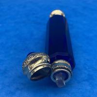 Victorian Bristol Blue Perfume Bottle (13 of 17)