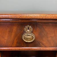 Small Victorian Mahogany Antique Pedestal Desk (5 of 7)