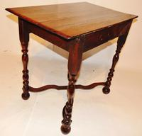 William & Mary Oak Side Table (8 of 8)