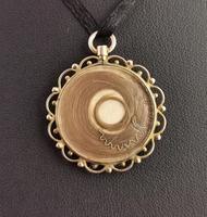 Antique Mourning Locket, Hairwork Pendant, 9ct Gold (8 of 10)
