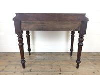 Antique Victorian Mahogany Two Drawer Side Table (15 of 15)