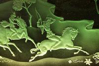 Magnificent Art Deco Illuminated Etched & Engraved Very Large Glass Wall Decoration (2 of 13)