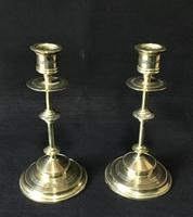 Pair of Arts & Crafts Brass Candlesticks (4 of 5)