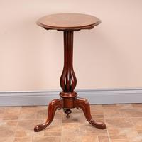 Good Quality Marquetry Walnut Occasional Tip Table (8 of 14)