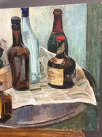 oil on board -  still life with bottles (2 of 4)