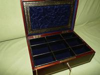 Quality Unisex Inlaid Rosewood Jewellery Box. c1840