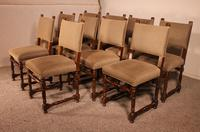 Set Of 10 Louis XIII Style Chairs In Walnut (10 of 11)