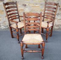 Set of 12 Oak Ladder Back Dining Chairs - Royal Oak Furniture (10 of 15)