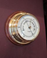Antique London Bulkhead Marine Barometer