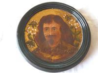 2 19th Century Pre Raphaelite Roundel Oil Portraits . Da Vinci & Velasquez (5 of 7)