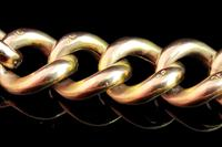 Antique 9ct Gold Curb Bracelet, Edwardian (5 of 9)
