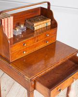 George III mahogany ladies writing desk or 'cheveret' (6 of 9)