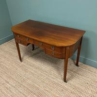 Stunning Victorian Mahogany Bow Fronted Antique Writing Table (5 of 7)