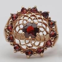 Vintage Gold & Garnet Dress Ring