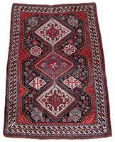 Antique Qashqai Rug 1.47m x 1.04m (2 of 17)