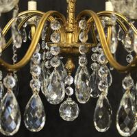 French Pair of 8 Light Antique Chandeliers (9 of 10)