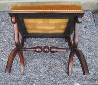 Victorian Rosewood x-frame Stool (5 of 6)