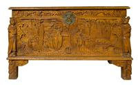 Early 20th Century Chinese Style Carved Camphorwood Chest (7 of 11)