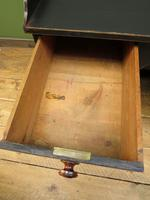 Black Painted Writing Desk with Drawers, Gothic Shabby Chic (7 of 15)