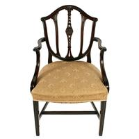 Pair of Hepplewhite Style Elbow Chairs (4 of 8)