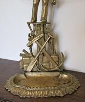 Unusual Nautical Brass Stick or Umbrella Stand  in shape of Sailor (3 of 6)