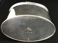 Mappin & Webb Antique Silver Plated Oval Tea Caddy (4 of 6)
