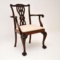 Set of 8 Antique Mahogany Chippendale Style Dining Chairs (9 of 12)