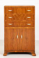 Art Deco Ladies Walnut Compactum (2 of 6)