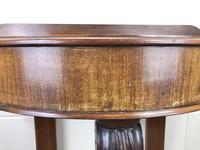 Victorian Mahogany Demi Lune Console Table (5 of 8)