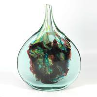 Signed Michael Harris : A Good Maltese Mdina Cut Ice Lollipop Vase 1968 - 72 (2 of 7)