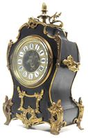 Fine French Ebony & Ormolu Boulle Mantel Clock – Farcot Skelton Dial 8 Day Mantle Clock (4 of 9)