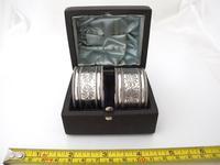 Great quality pair Edwardian silver napkin rings original box Robert Stebbings London 1906 (6 of 6)