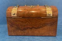 Victorian Brassbound Burr Walnut Stationary Box (4 of 11)