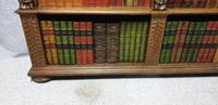 Outstanding Carved Oak Open Library Bookcase (3 of 16)