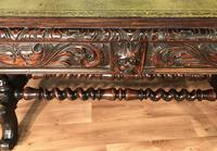 Victorian Carved Oak Desk Library Table (15 of 25)