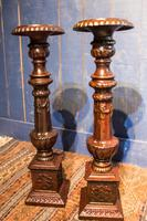 Pair of Tall Cast Iron Pricket Candlesticks (8 of 9)
