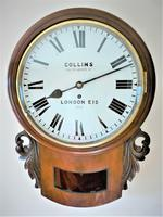 Stunning 1888 English Fusee Drop Dial Timepiece by James Collins & Son