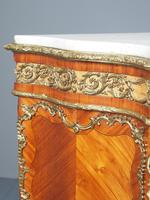 Antique Louis XVI Style Kingwood & Marble Cabinet (6 of 18)