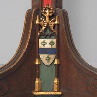 Pair of Gothic Revival Oak Standard Lamps (4 of 12)